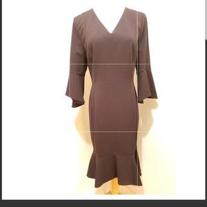 Calvin Klein Bell Sleeve Hi-lo Dress